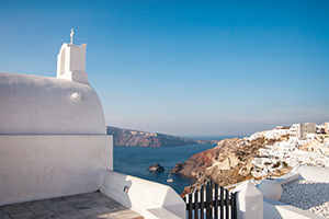 The village of Oia in Santorini