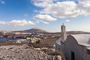 The village of Akrotiri Santorini