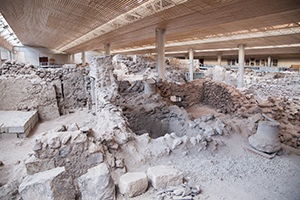 Archaeological site Akrotiri Santorini