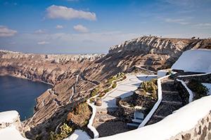 The view from Venetsanos Winery Santorini