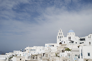 The village of Pyrgos in Santorini