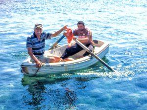 Fresh seafood Santorini
