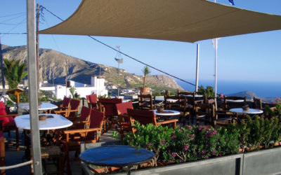 Best Sunset Spots Santorini | Cafes in Santorini | Franco's Cafe Pyrgos